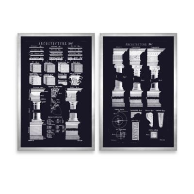 Uttermost Architecturals Vintage Wall Art (Set of 2)