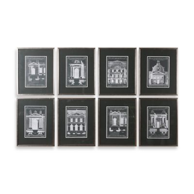Uttermost Architectural Elements Wall Art (Set of 8)