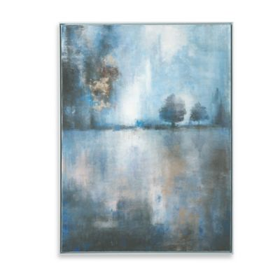 Uttermost Lake At Dusk Hand Painted Wall Art