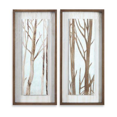 Uttermost Tree Focus Shadow Box 2-Piece Wall Art