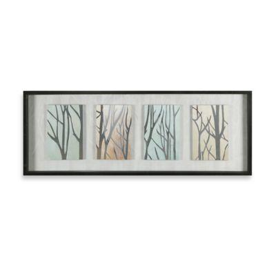 Tree Trunks on Display Shadow Box Wall Art