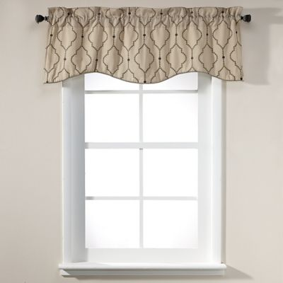 Sissani 17-Inch Lined Window Valance in Driftwood