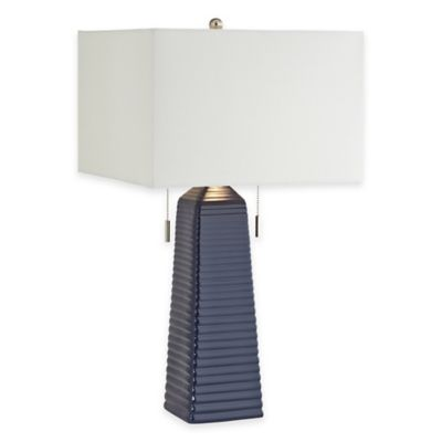 Pacific Coast® Lighting Kathy Ireland Home® Ceramic Table Lamp in Blue