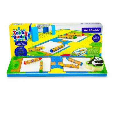 Tubby Buddy Little Racers Wet & Sketch Activity Mat and Crayons