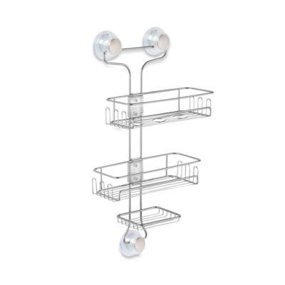 Gentil InterDesign® Turn N Lock 3 Tier Suction Shower Caddy