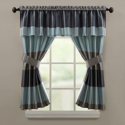 Croscill® Fairfax 45-Inch Window Panel in Slate (Set of 2)