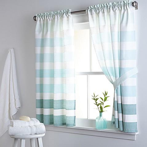 Dkny Highline Stripe 38 Inch X 45 Inch Cotton Window