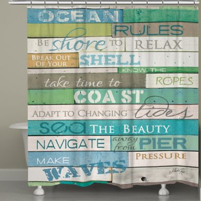 Laural Home® Ocean Rules Shower Curtain