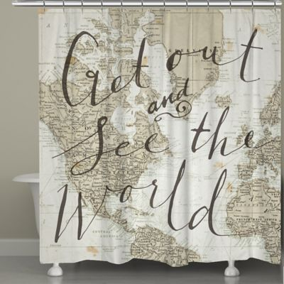 Laural Home® Get Out and See the World Shower Curtain