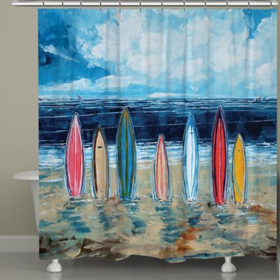 Laural Home® Surfboards Shower Curtain
