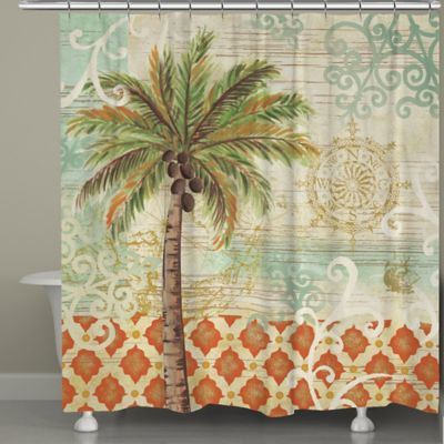 Laural Home® Spice Palms Shower Curtain