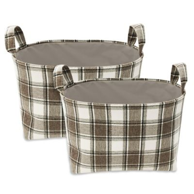 Plaid Bonded Bins (Set of 2)