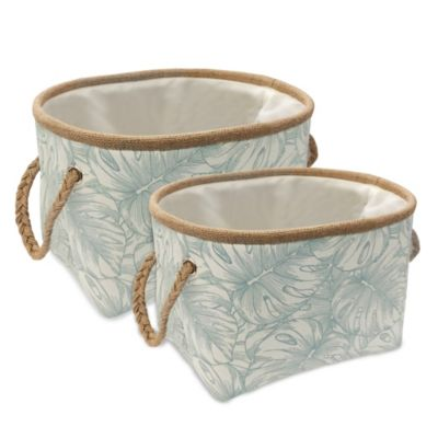 Green/White Decorative Baskets