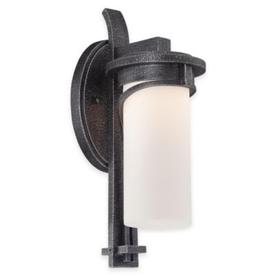 Minka Lavery® Holbrook 14.5-Inch 1-Light Wall-Mount Outdoor LED Lantern in Silver