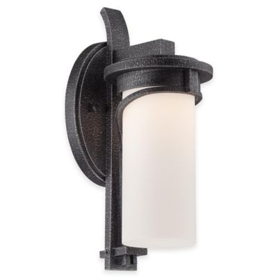 Minka Lavery® Holbrook 12.5-Inch 1-Light Wall-Mount Outdoor LED Lantern in Silver