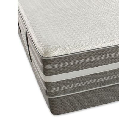 Beautyrest® Recharge® Hybrid Brisben Plush Low Profile Queen Mattress Set