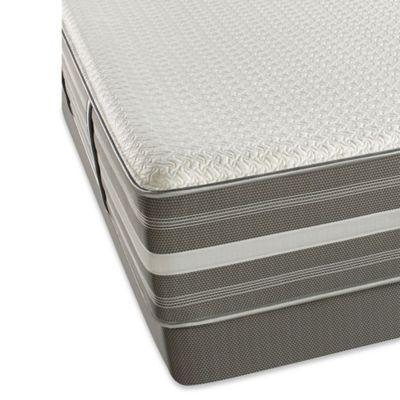 Beautyrest® Recharge® Hybrid Brisben Plush Low Profile Split Queen Mattress Set