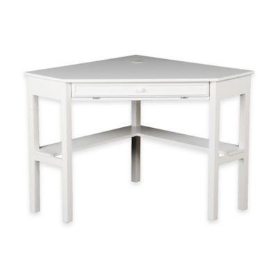 Alexander Corner Computer Desk in White