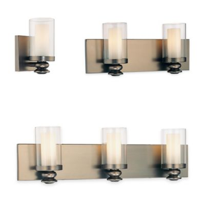 Minka Lavery® Harvard Court 1-Light Wall-Mount Bath Fixture in Bronze with Glass Shade