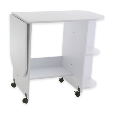 Southern Enterprises Sewing Table in White