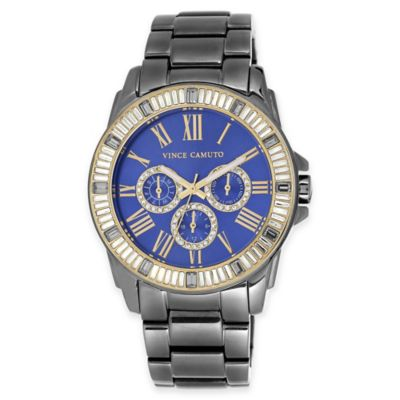 Vince Camuto Ladies' 43mm Swarovski® Crystal-Accented Watch in Light Grey Stainless Steel
