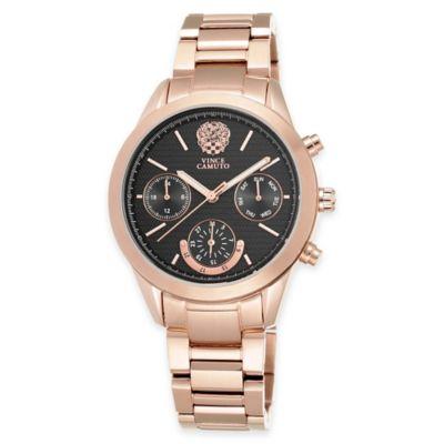Vince Camuto Ladies' 38mm Multifunction Dial Bracelet Watch in Rose Goldtone Stainless Steel