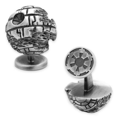 Star Wars™ Silver-Plated 3D Death Star Cufflinks