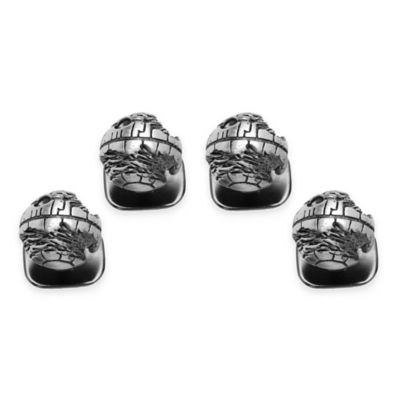 Star Wars™ Silver-Plated 3D Death Star Tuxedo Studs