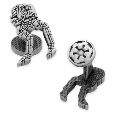 Star Wars™ Silver-Plated AT-AT Walker Etched Cufflinks