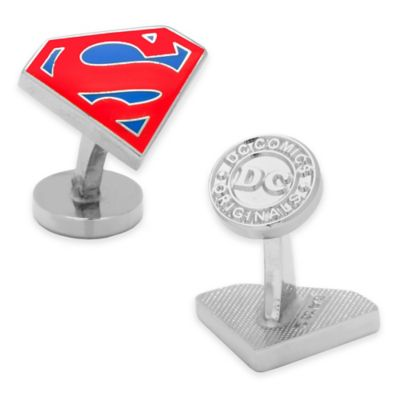 Silver-Plated Superman Cufflinks