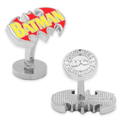Silver-Plated Vintage Batman Comic Book Logo Cufflinks
