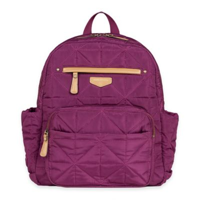TWELVElittle Companion Backpack Diaper Bag in Plum