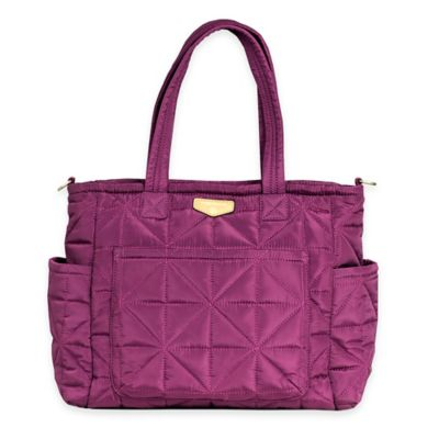 TWELVElittle Carry Love Tote Diaper Bag in Plum