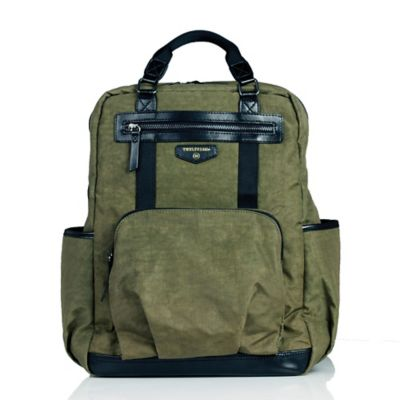 TWELVElittle Unisex Courage Backpack Diaper Bag in Olive