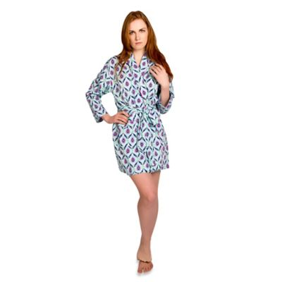 Small Ambrosia Robe in Blue/Pink