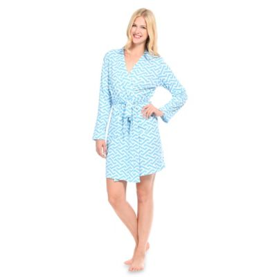 Large Molly Jersey Knit Robe in Blue