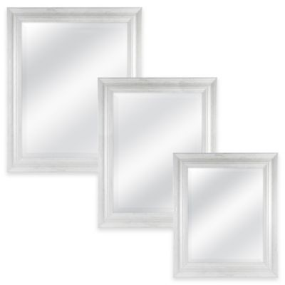 Normandy 21.5-Inch x 25.5-Inch Rectangular Mirror in White Wash