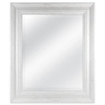 Normandy 21.5-Inch x 25.5-Inch Rectangular Mirror in White Wash