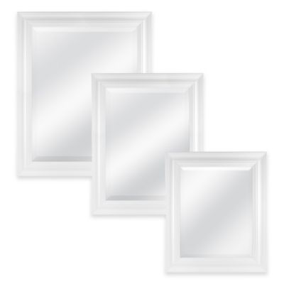 Normandy 21.5-Inch x 25.5-Inch Rectangular Mirror in White