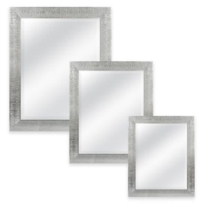 Rocco 21.5-Inch x 25.5-Inch Rectangular Mirror in Silver