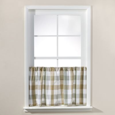 Harper 24-Inch Window Curtain Tier Pair in Blue