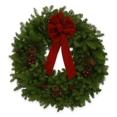 30-Inch Fresh Maine Balsam Classic Wreath