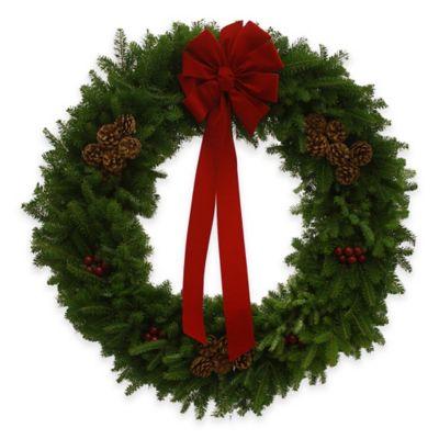 36-Inch Fresh Maine Balsam Wreath