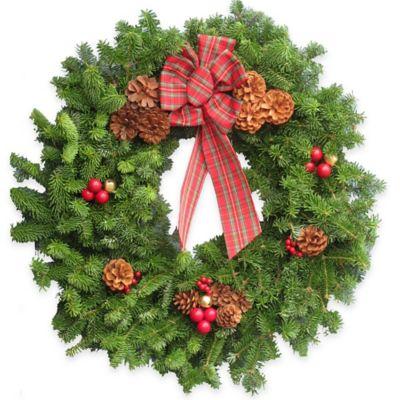 30-Inch Fresh Maine Balsam Highland Wreath