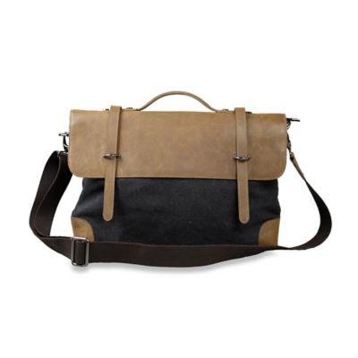 Journey Collection by Annette Ferber Edinburgh Messenger Bag in Black