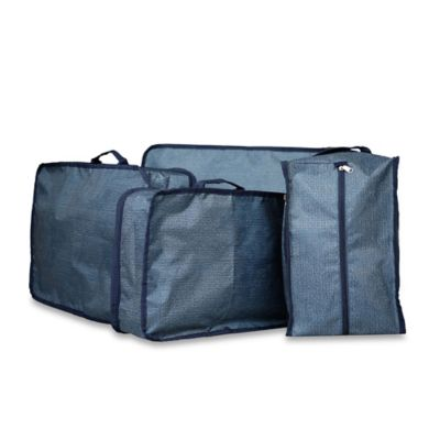 Sacs Collection by Annette Ferber 4-Piece Luggage Manager Set in Blue