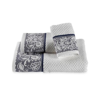 Avignon Fingertip Towel in Oxford Blue
