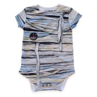 Faux Real Size 12M Photorealistic Mummy Short Sleeve Bodysuit