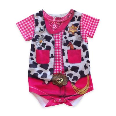 Faux Real Size 6M Photorealistic Cowgirl Short Sleeve Bodysuit