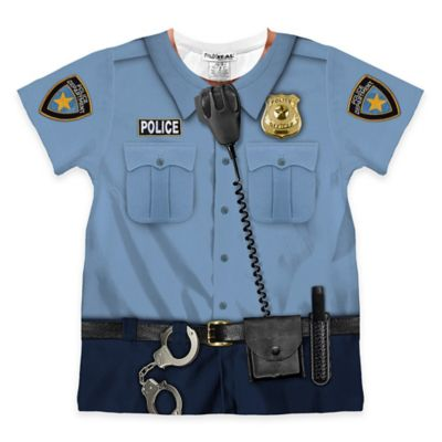 Faux Real Size 3T Photorealistic Policeman Short Sleeve T-Shirt